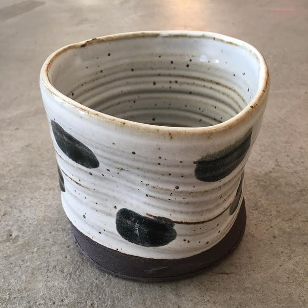 Black Dot Pattern Planter