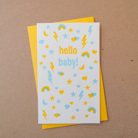 Busy Baby Blue Card
