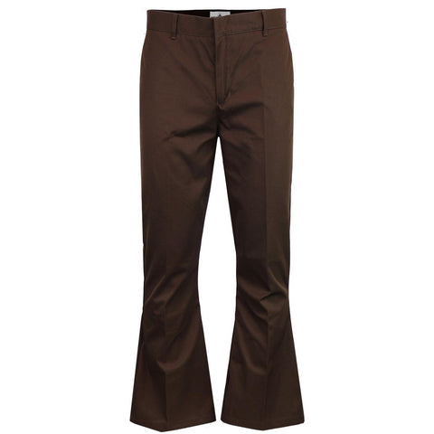 Bolan Retro Stay-Pressed Bellbottom Trousers Brown