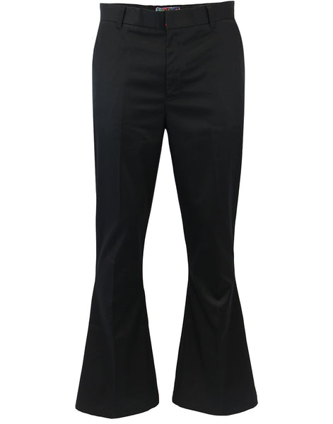Bolan Retro Stay-Pressed Bellbottom Trousers