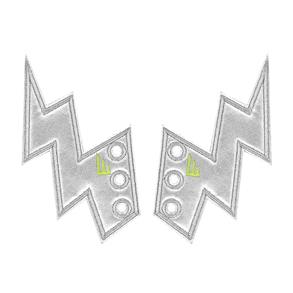 Shwings Lightning Bolt Silver Foil