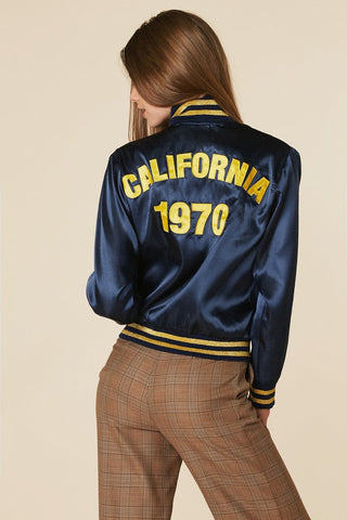 California 1970 Bomber Jacket Navy/Gold