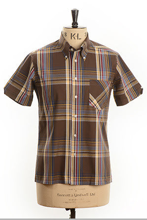 Boothe Chocolate S/S Button Down Shirt