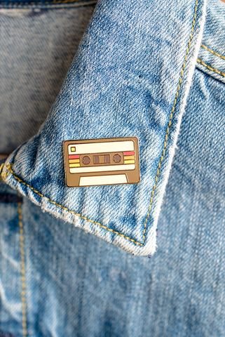 Demo Tape Cassette Enamel Pin