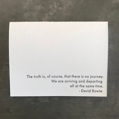 David Bowie Quote Card