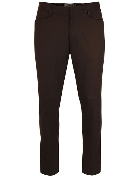 Logan Slim Trousers Brown
