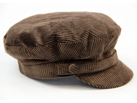 Beatle Hat Dark Brown Corduroy