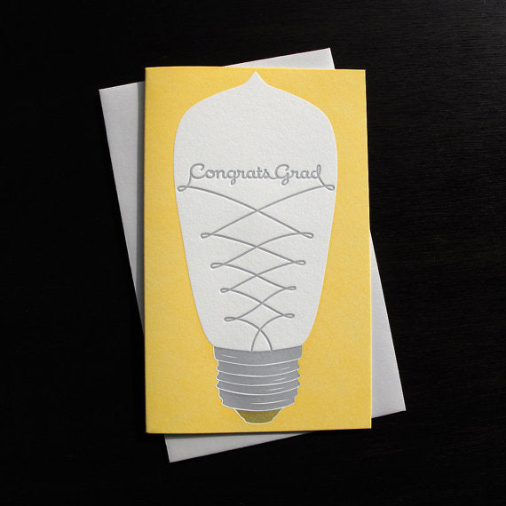 Lightbulb Graduation Card