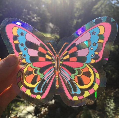 Butterfly Sun Catcher Decal for Windows Large