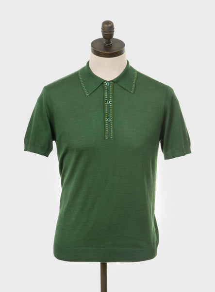 Byrd Knitted Shirt Isle Green
