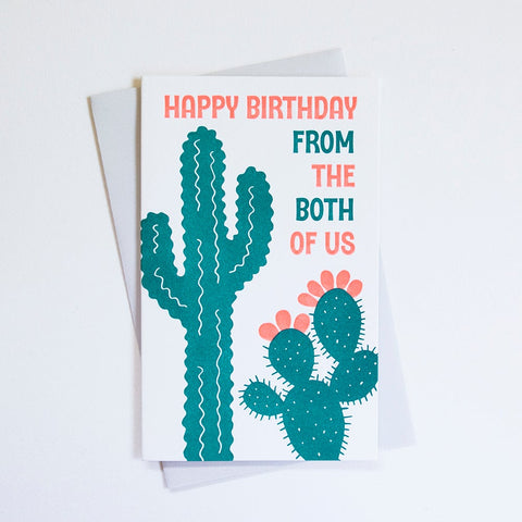 From The Both Of Us Cactus Birthday Card