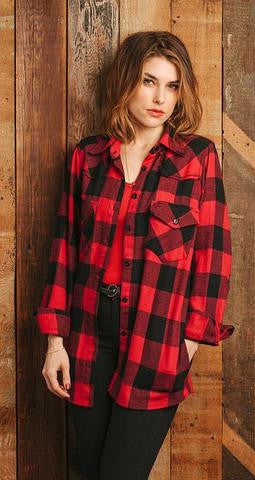 Classic Flannel Overshirt with Pockets