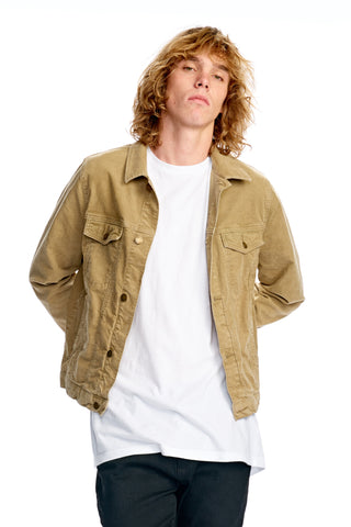 Trucker Jacket Camel Cord