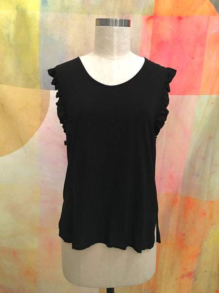 Ruffle Top Black