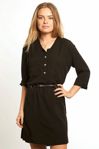 Short Shirt Dress Black