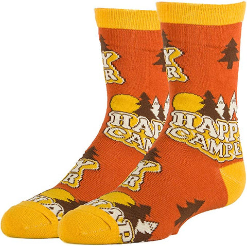 Happy Camper Kids' Crew Socks