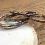 Serpent Bangle with Chip Inlay Brass/Black