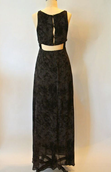 Carly Button Back Maxi Dress Black