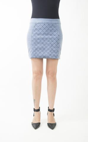 Dianne Blocked Denim Mini Skirt