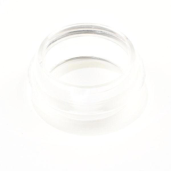 Clear Lucite Faceted Bangle