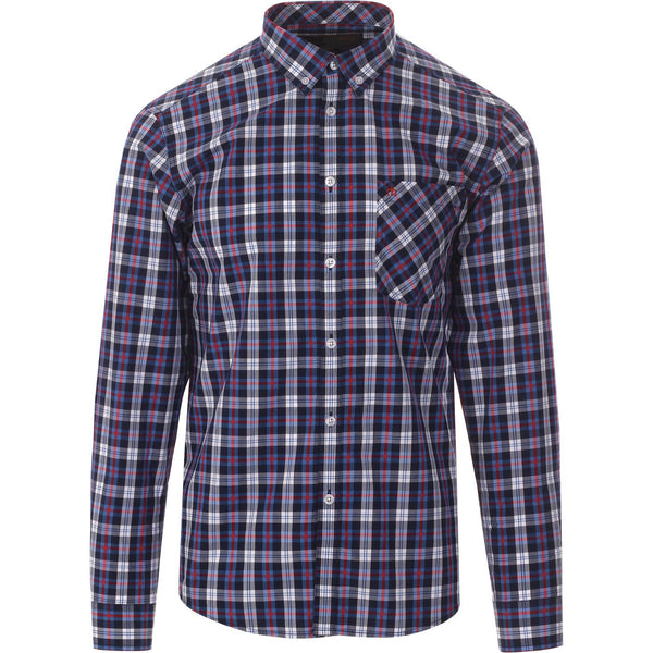 Cornhill Check Button Down Shirt Blue L/S