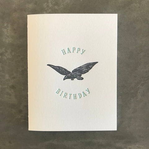 Crow Birthday Card