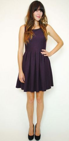 Darling Dress Eggplant