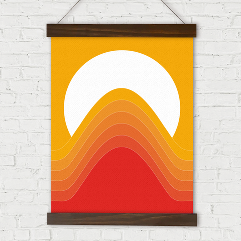 Desert Sunrise Linen Wall Hanging