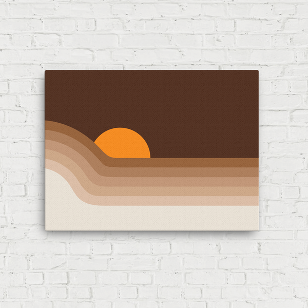 Dipper Stretched Linen Print-Dune