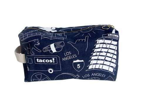 Los Angeles Dopp Kit Denim