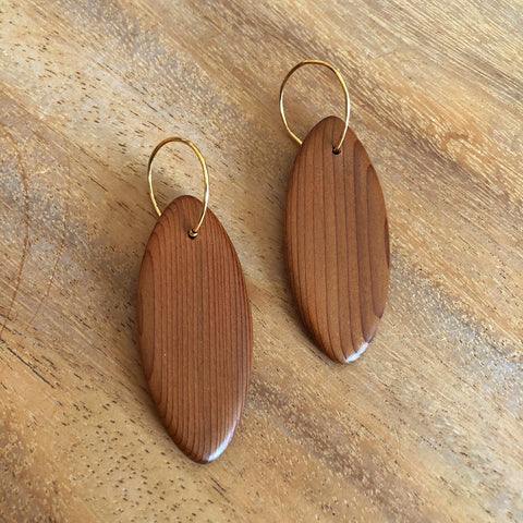 Gloria Earrings Brass