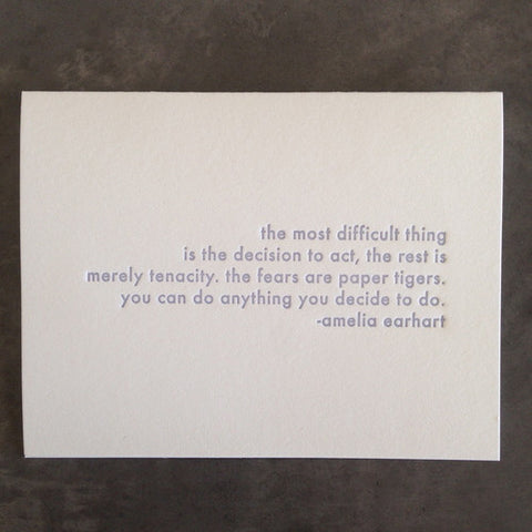Amelia Earhart Quote Card
