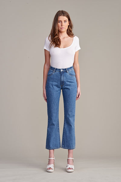 Eastcoast Crop Flare Jeans Kimberly Blue