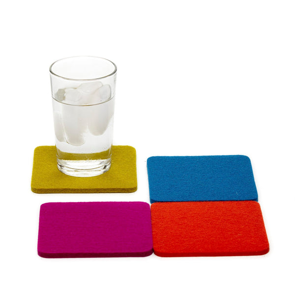 Square Felt Electric Coaster 4 pack