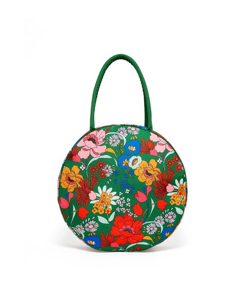 Emerald Super Bloom Picnic Cooler Bag