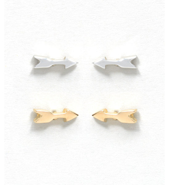 Arrow Stud Earrings Gold