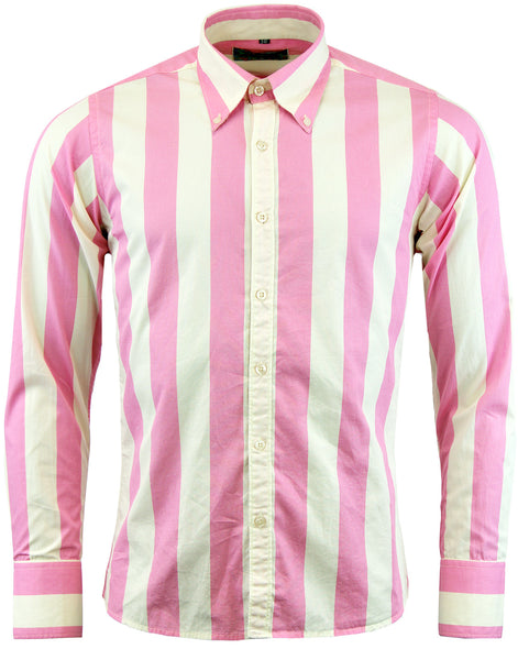 Eton Vertical Stripe Shirt Pink & Cream