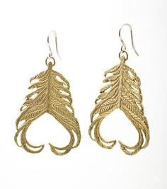 Feather Earring Sterling Silver