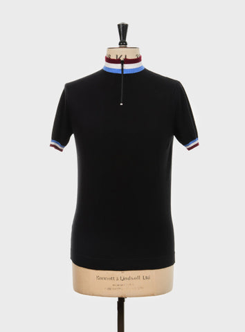 Felice Knitted Cycling Top Black