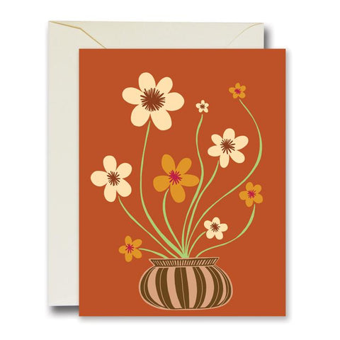 Friendly Flowers Card Orange