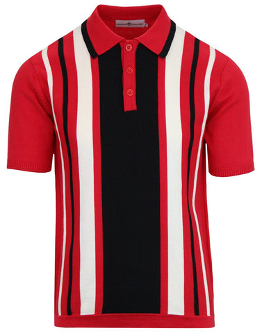 Folklore Knit Polo Red