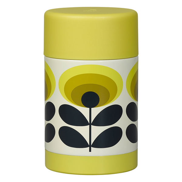 Flower Oval Yellow 70's Food Flask