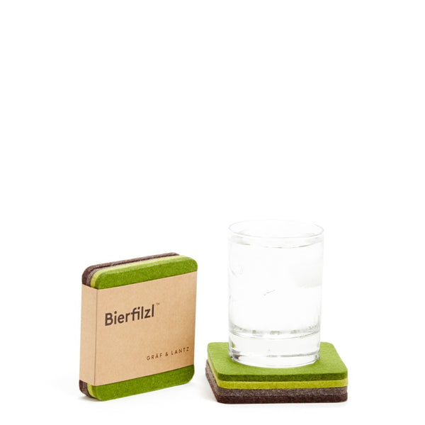 Square Felt Forest Coaster 4 pack