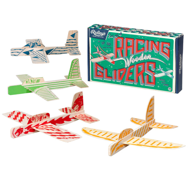 Racing Wooden Glider, Set of 4