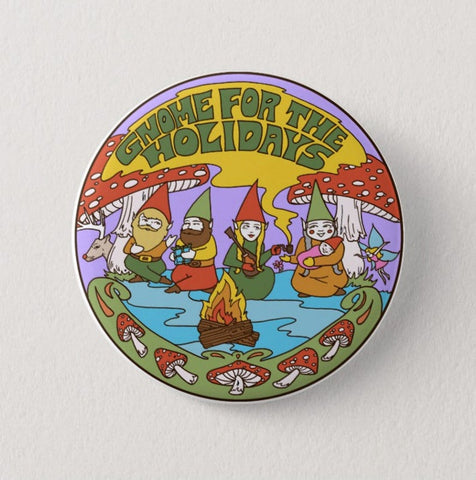 Gnome For The Holidays Pin