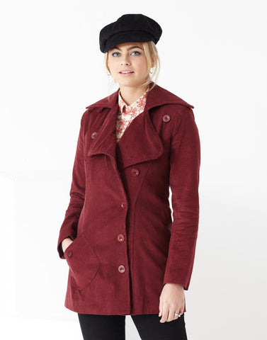 Grace Cord Jacket Burgundy