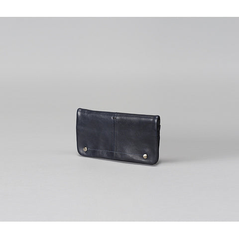 Navy/Black Halden Leather Wallet