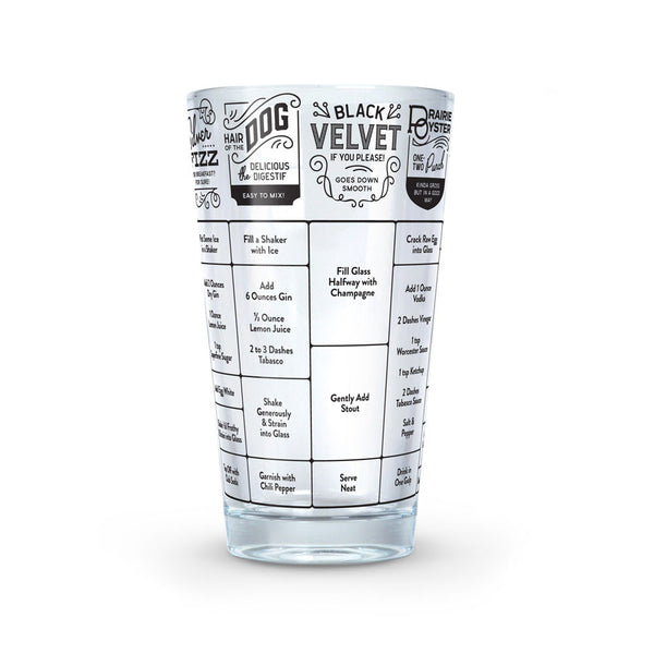 Hangover Recipe Glass