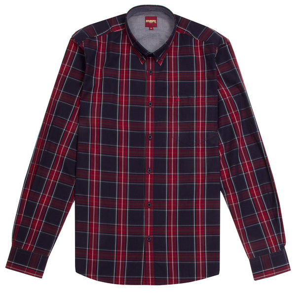 Harcourt Tartan Check Button Down Shirt L/S