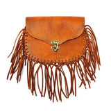 Fringe Hip Bag Brown